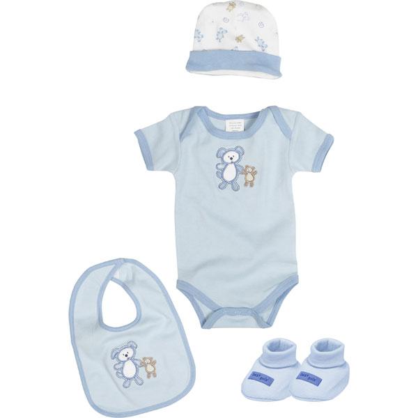 Set De Baño Para Recien Nacidos:Set de Regalo Para Recién Nacido Azul de Playshoes – TodoPapás