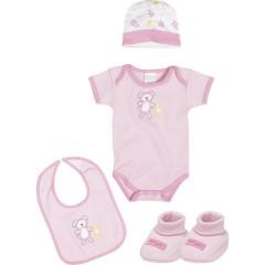 Set de Regalo para Recién Nacido Rosa de Playshoes