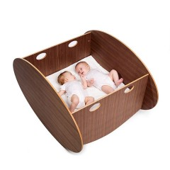 Minicuna So-Ro Twin Walnut de Babyhome