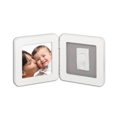 Marco de Foto y Huella Print Frame Blanco/gris de Baby Art