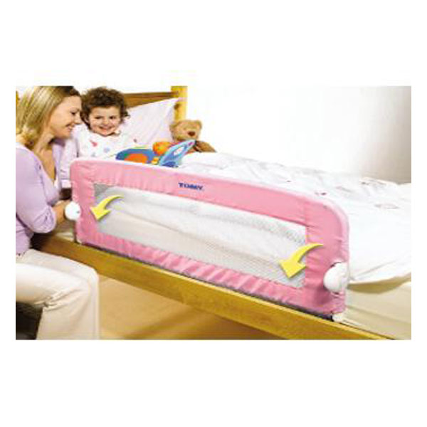 Barrera protectora para cama rosa de tomy the first years - Barra protectora cama ...