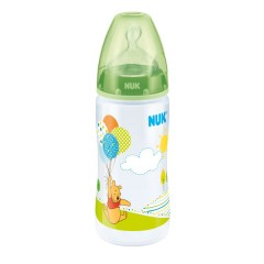 Biberón Cuello Ancho First Choice Winnie Silicona 300 Ml T1verde de Nuk