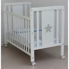 Cuna Barandilla Móvil Lacado Blanco Estrella de Osona