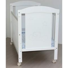 Cuna Barandilla Móvil lacado blanco dormilón de Osona