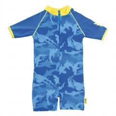 Bañador Traje de Una Sola Pieza Azul Tiburones de Babybanz