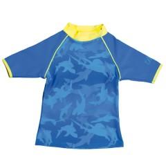 Camiseta Manga corta Azul Tiburones de BabyBanz