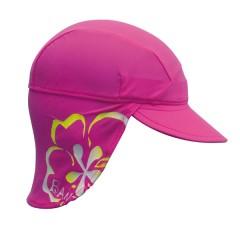 Gorra anti-UV Rosa Flores de BabyBanz