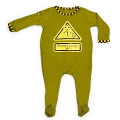 Pijama El Horario Lo Pongo Yo Color Verde de Bebe Due