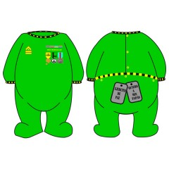 Pijama Ejercito de Paz color Verde de Bebe Due