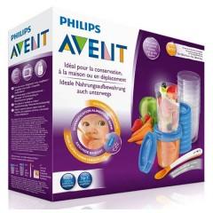 Conjunto Via Gourmet Pp (vasos +tapas+recetario+cuchara) de Philips Avent