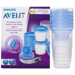 Recipientes Via (10 Recipientes + 10 Tapas+ 2 Adaptador) de Philips Avent