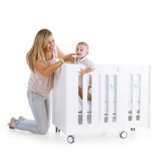 Cuna extensible cuatro etapas babybox + colchón de regalo de Moodelli