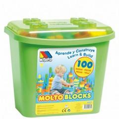 Caja 100 Bloques de Construcción de Moltó