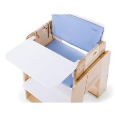 Trona Growi + Baby set + Cojines azul + bandeja de moodelli