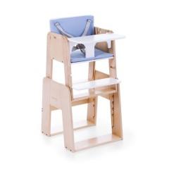 Trona Growi con todos los accesorios + Bastidor newborn set + cojines azul de Moodelli