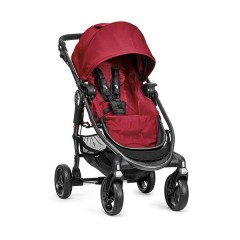 Silla de paseo City Versa rojo + barra delantera + capa de lluvia+ capazo versa rojo de Baby Jogger