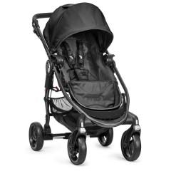 Silla de paseo City Versa negro + barra delantera + capa de lluvia+ capazo versa negro de Baby Jogger