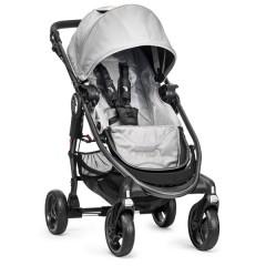 Silla de paseo City Versa plata + barra delantera + capa de lluvia+ capazo versa plata de Baby Jogger