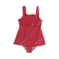 Bañador con faldita lunares rojo de Playshoes