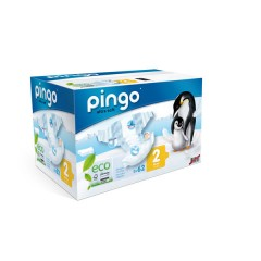 Pañales ecológicos Pingo talla 2 (3-6 kilos) 84 uds.