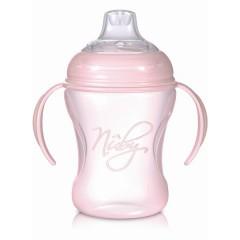 Biberón con asas SoftFlex™ Natural Sipper™ 240 ml rosa de Nûby