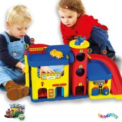 Garaje actividades + 3 vehículos de Viking Toys