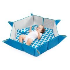 Colchón evolutivo multiposición Pili Mat Blue Cubes de BabyToLove