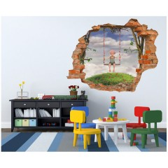 Vinilo Decorativo Amazing 3d Columpio de Decora Tu Pared
