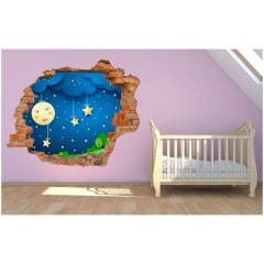 Vinilo Decorativo Amazing 3d Cielo Estrellado de Decora Tu Pared