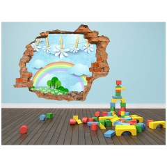 Vinilo Decorativo Amazing 3d Arco Iris de Decora Tu Pared