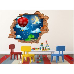 Vinilo Decorativo Amazing 3d Globo de Decora Tu Pared