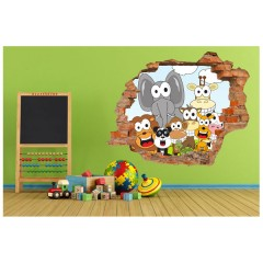 Vinilo Decorativo Amazing 3d Animales de Decora Tu Pared