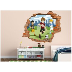 Vinilo Decorativo Amazing 3d Fútbol de Decora Tu Pared