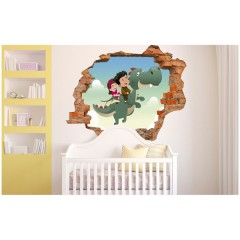 Vinilo Decorativo Amazing 3d Dragón de Decora Tu Pared