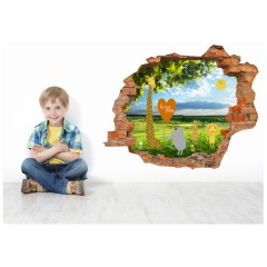 Vinilo Decorativo Amazing 3d I Love You de Decora Tu Pared