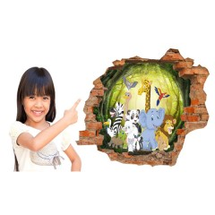 Vinilo Decorativo Amazing 3d Animales Salvajes de Decora Tu Pared