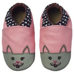 Zapato para niña ClassicZ Sweetheart Kitty Pink de Rose Et Chocolat