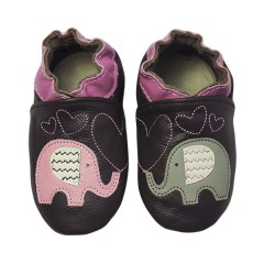 Zapato para niña ClassicZ Elephant Kiss Brown de Rose Et Chocolat