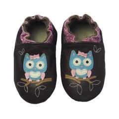 Zapato para niña ClassicZ Polka Owl Brown de Rose Et Chocolat