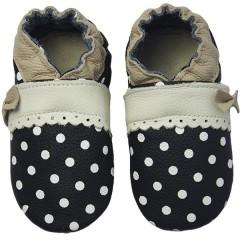 Zapato para bebé ClassicZ Polka Princess Black de Rose Et Chocolat