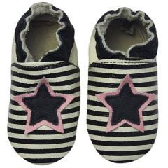 Zapato para bebé ClassicZ Star Stripe Black de Rose Et Chocolat