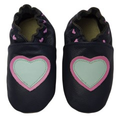 Zapato para bebé ClassicZ Little Hearts Blue de Rose Et Chocolat