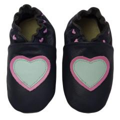 Zapato para bebé ClassicZ Little Hearts Blue de Rose Et Chocolat