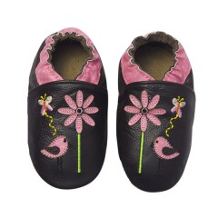 Zapato para bebé ClassicZ Sweet Birdy Brown de Rose Et Chocolat