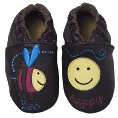 Zapato para bebé ClassicZ Bee Happy Brown de Rose Et Chocolat