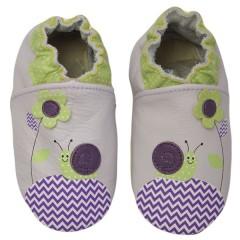 Zapato para bebé ClassicZ Zig-Zag Snail Pink de Rose Et Chocolat