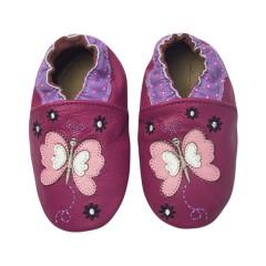 Zapato para bebé ClassicZ Butterfly Fuchsia de Rose Et Chocolat