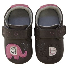 Zapatos MiniZ Elephant Kiss Grey de Rose et Chocolat