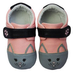 Zapatos MiniZ Sweetheart Kitty Pink de Rose et Chocolat