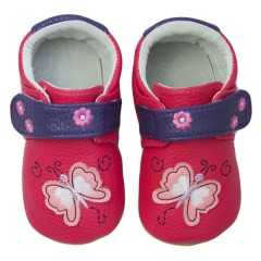 Zapatos MiniZ Butterfly Fuchsia de Rose et Chocolat
